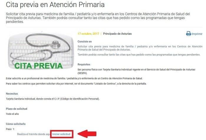 Cita para el médico en Asturias